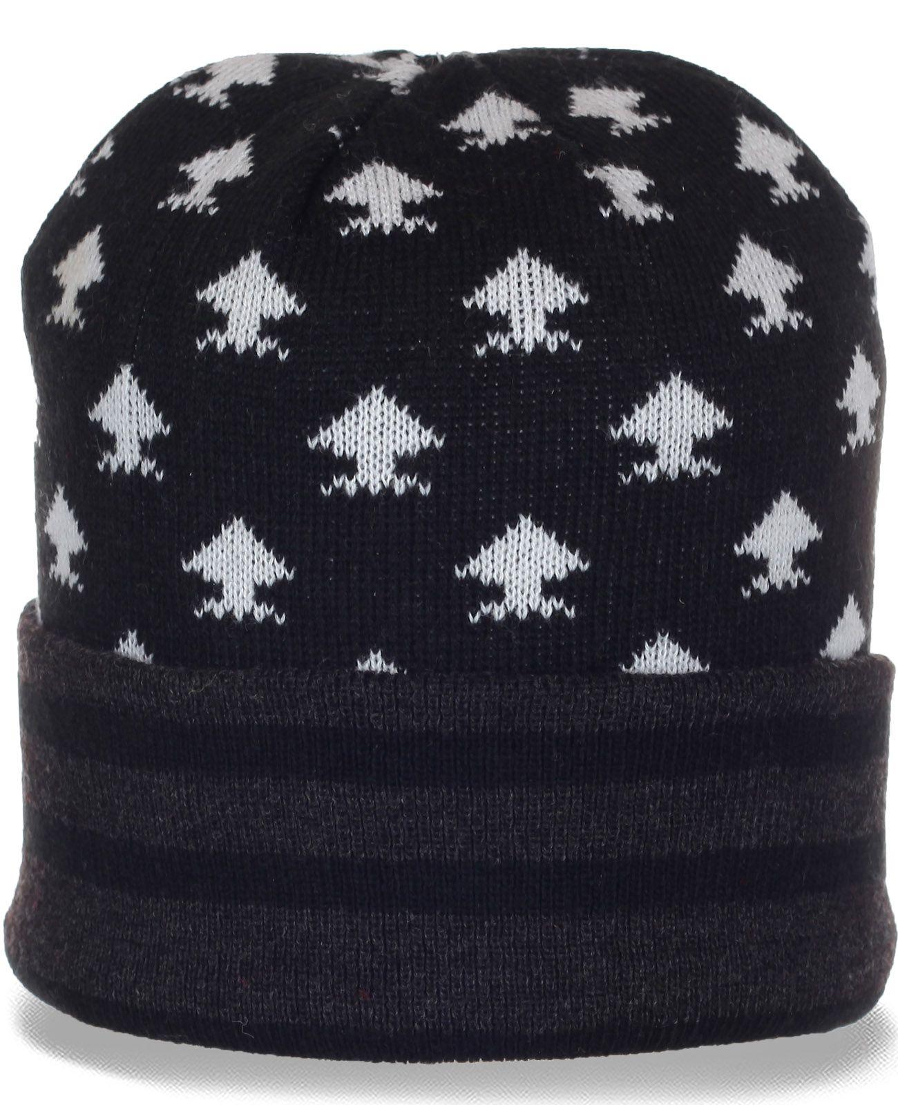 Топовая демисезонная мужская шапочка