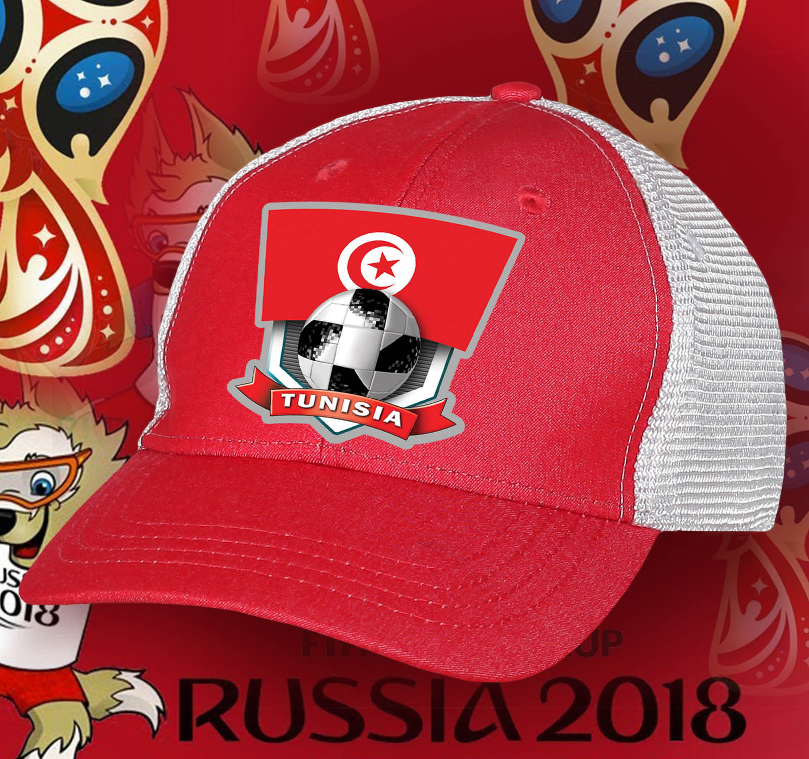 Топовая фанатская бейсболка Tunisia