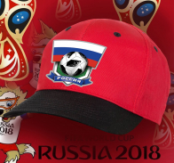 Топовая красная бейсболка болельщика Россия