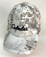 Топовая летняя бейсболка Cabelas белый камуфляж