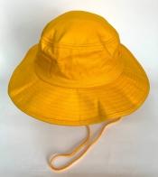 Топовая летняя панама сочного желтого цвета