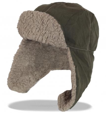 Топовая мужская зимняя шапка-ушанка с мягким козырьком утепленная мехом. Стильный гламурный аксессуар никого не оставит равнодушным!