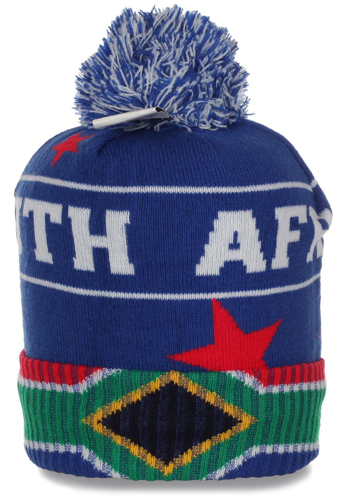 Топовая спортивная шапочка на флисе Republic of South Africa