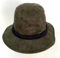 Топовая замшевая шляпа с черной лентой