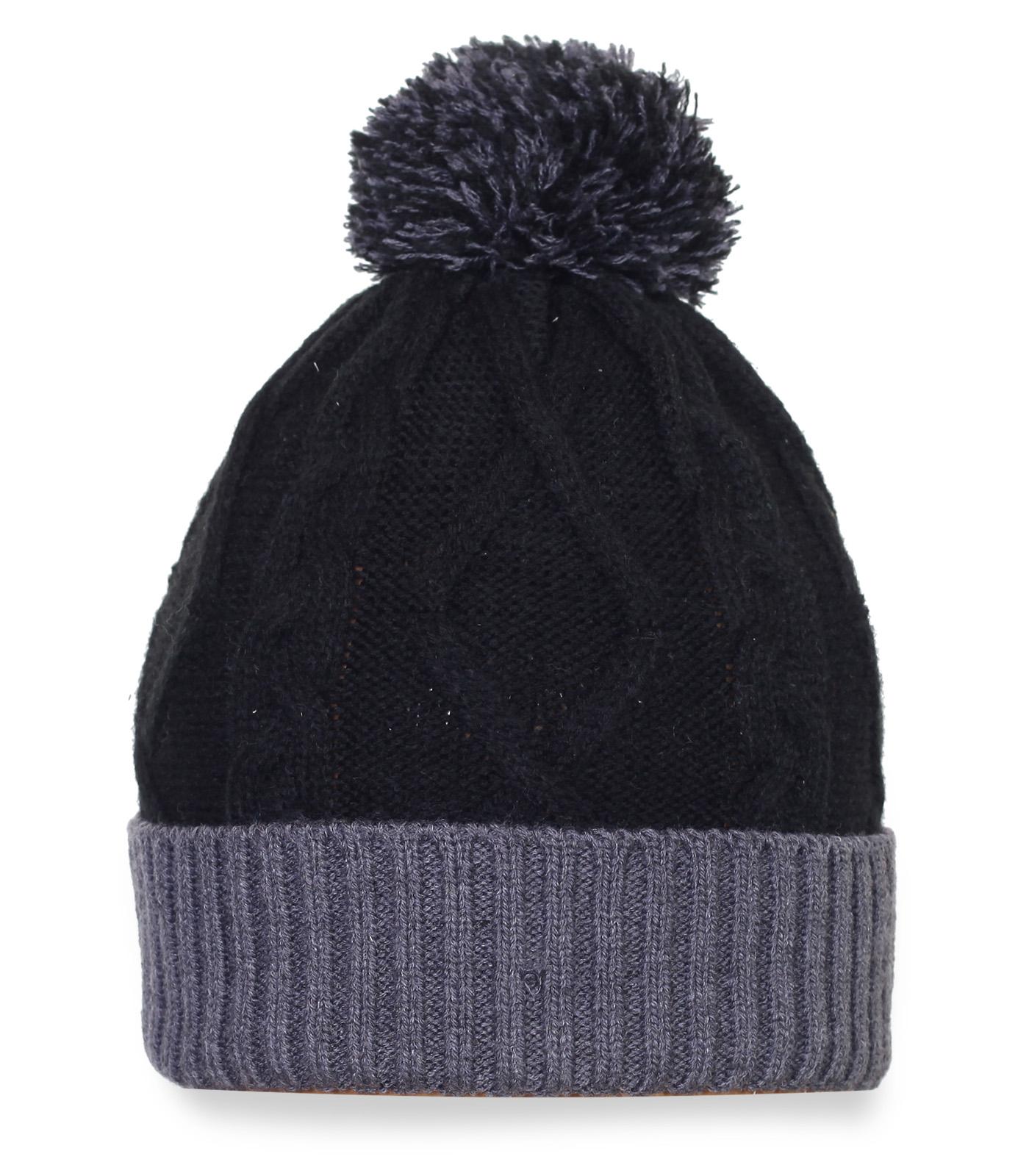 Топовая зимняя шапка с помпоном