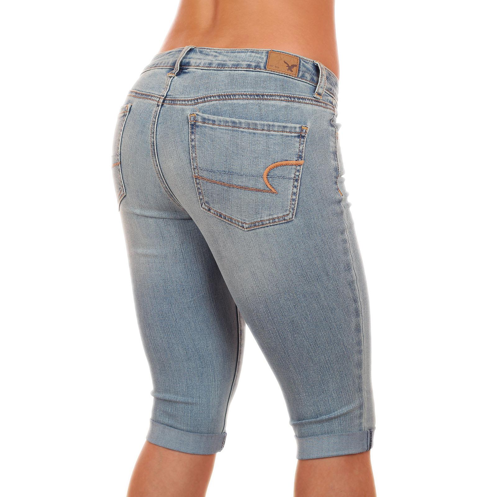 Топовые джинсовые бриджики от American Eagle®, будь неотразимой дерзкой и сексуальной этим летом! с доставкой