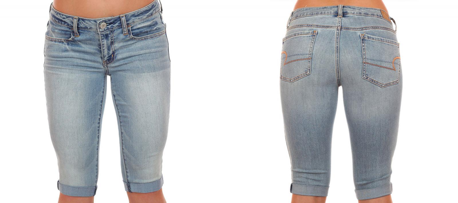 Заказать топовые джинсовые бриджики от American Eagle®, будь неотразимой дерзкой и сексуальной этим летом!