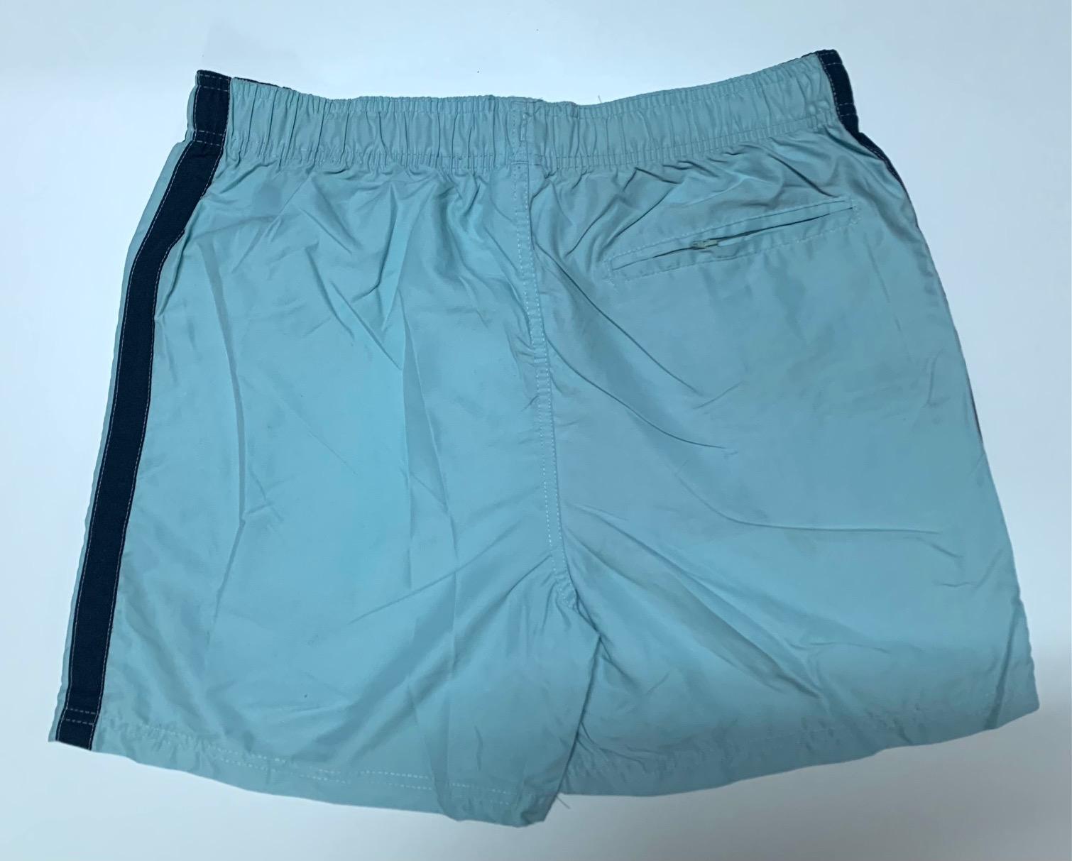 Топовые шорты мужские голубого цвета