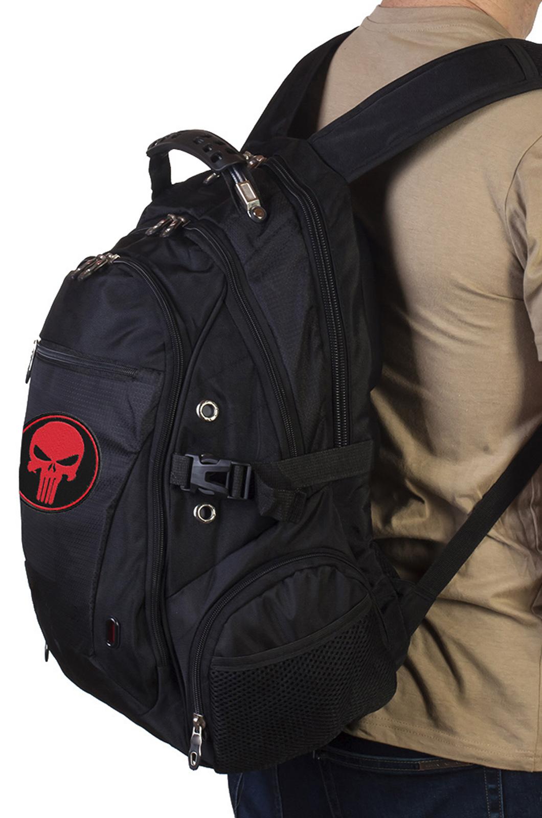 Топовый городской рюкзак с нашивкой КАРАТЕЛЬ купить оптом