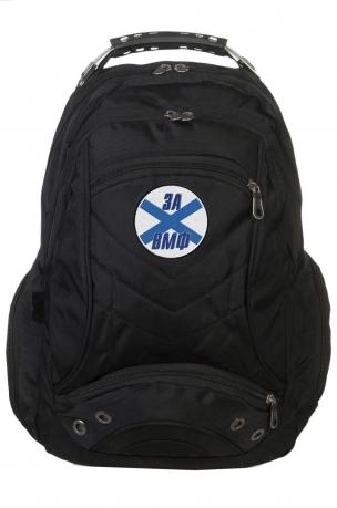 Топовый городской рюкзак с шевроном ЗА ВМФ