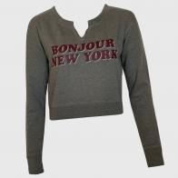 Топовый женский свитшот BONJOUR NEW YORK