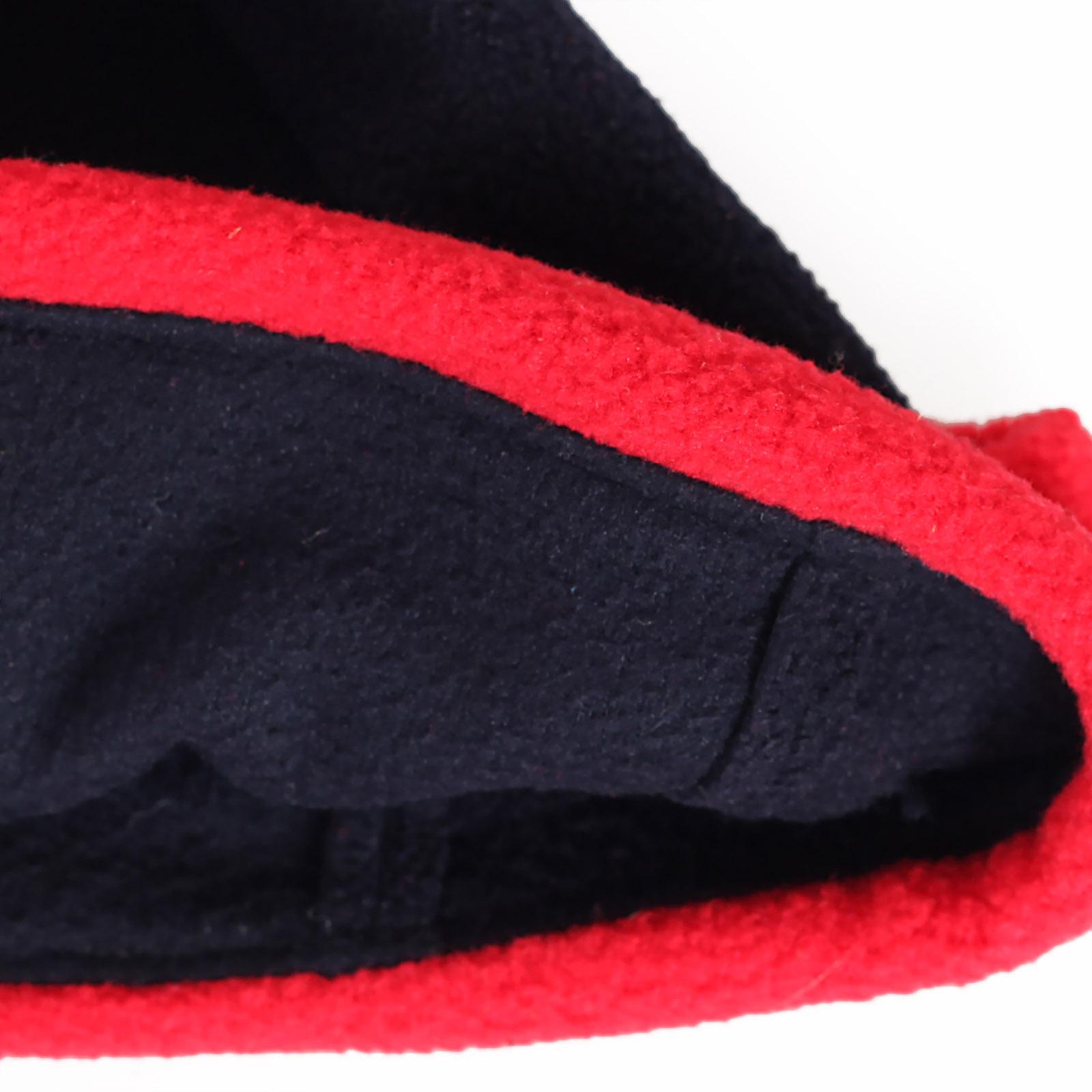 Купить традиционную флисовую зимнюю шапку с отворотом утепленную флисом по выгодной цене