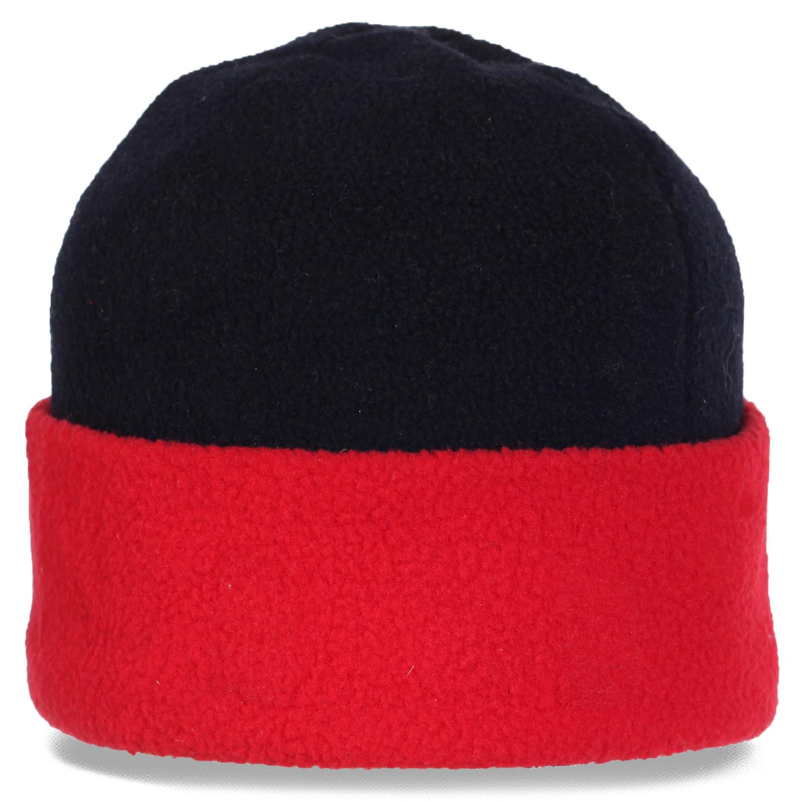Традиционная флисовая зимняя шапка с отворотом утепленная флисом. В такой шапке Вы точно не замерзнете!