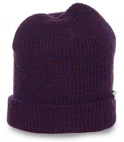 Традиционная популярная модель мужская шапка ребристого узора