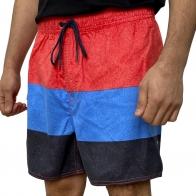 Трёхцветные мужские шорты Grinario в полосу