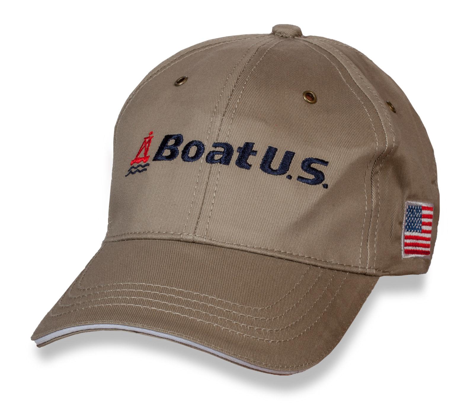 Трендовая бейсболка с логотипом BoatUS.