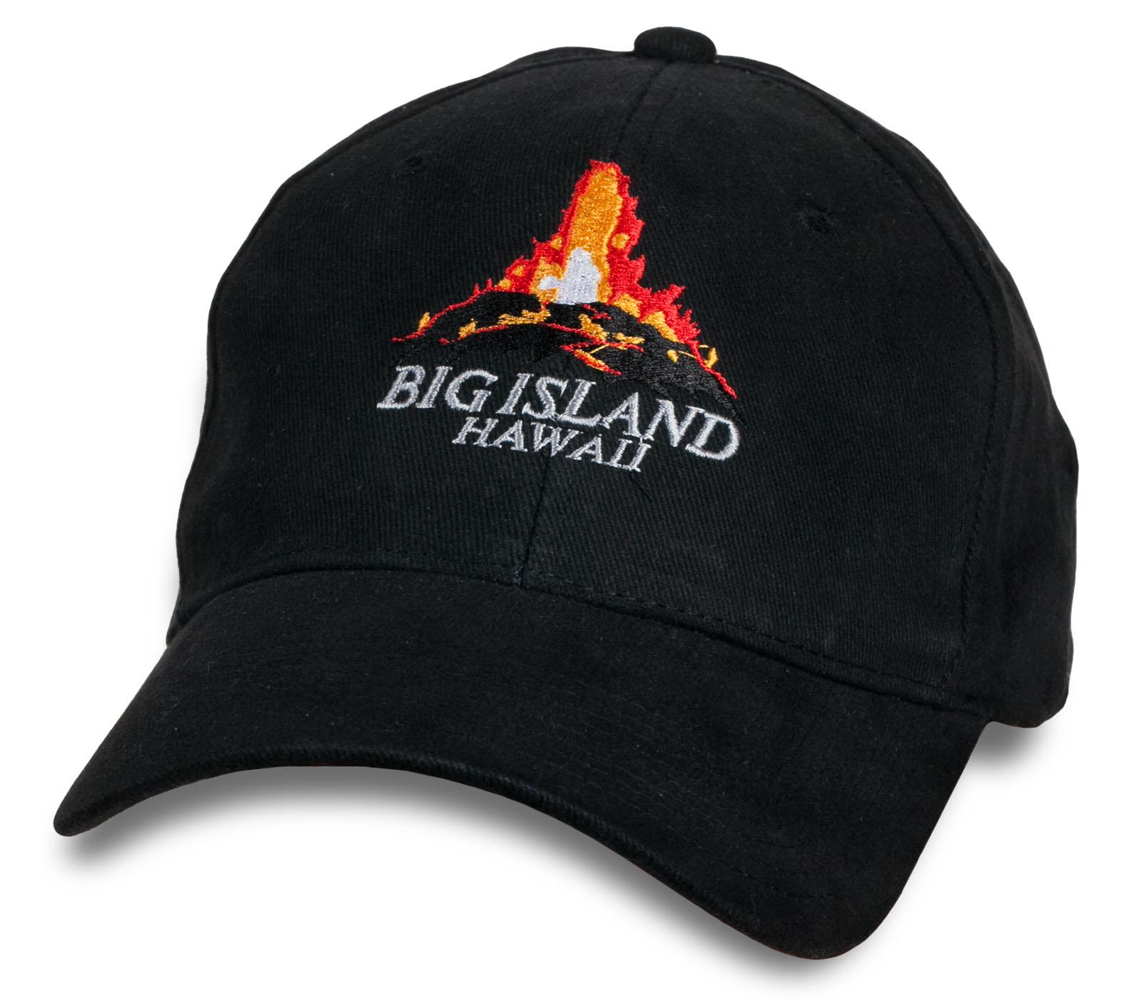 Трендовая черная кепка Big Island of Hawaii.