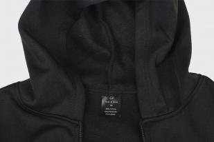 Трендовая черная толстовка с карманами и символикой МВД - купить оптом