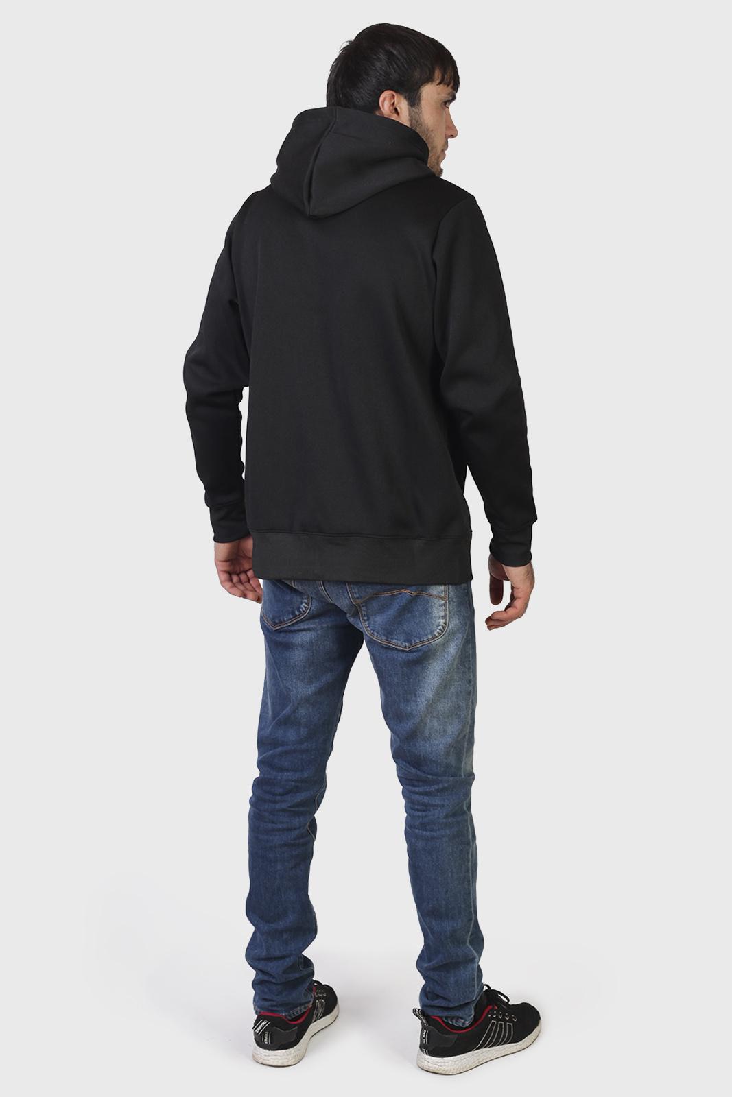Трендовая черная толстовка с карманами и символикой МВД - купить в подарок