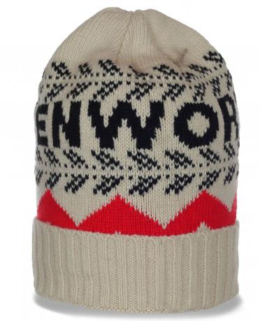 Трендовая демисезонная мужская шапочка Kenworth