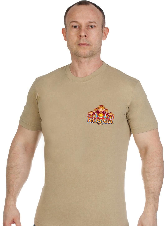 Купить трендовую хлопковую футболку Россия по экономичной цене