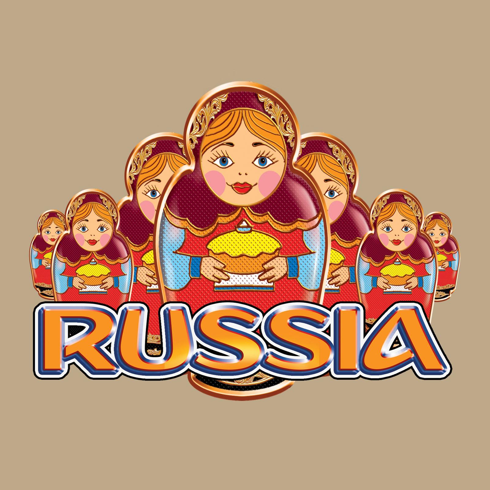Трендовая хлопковая футболка Россия