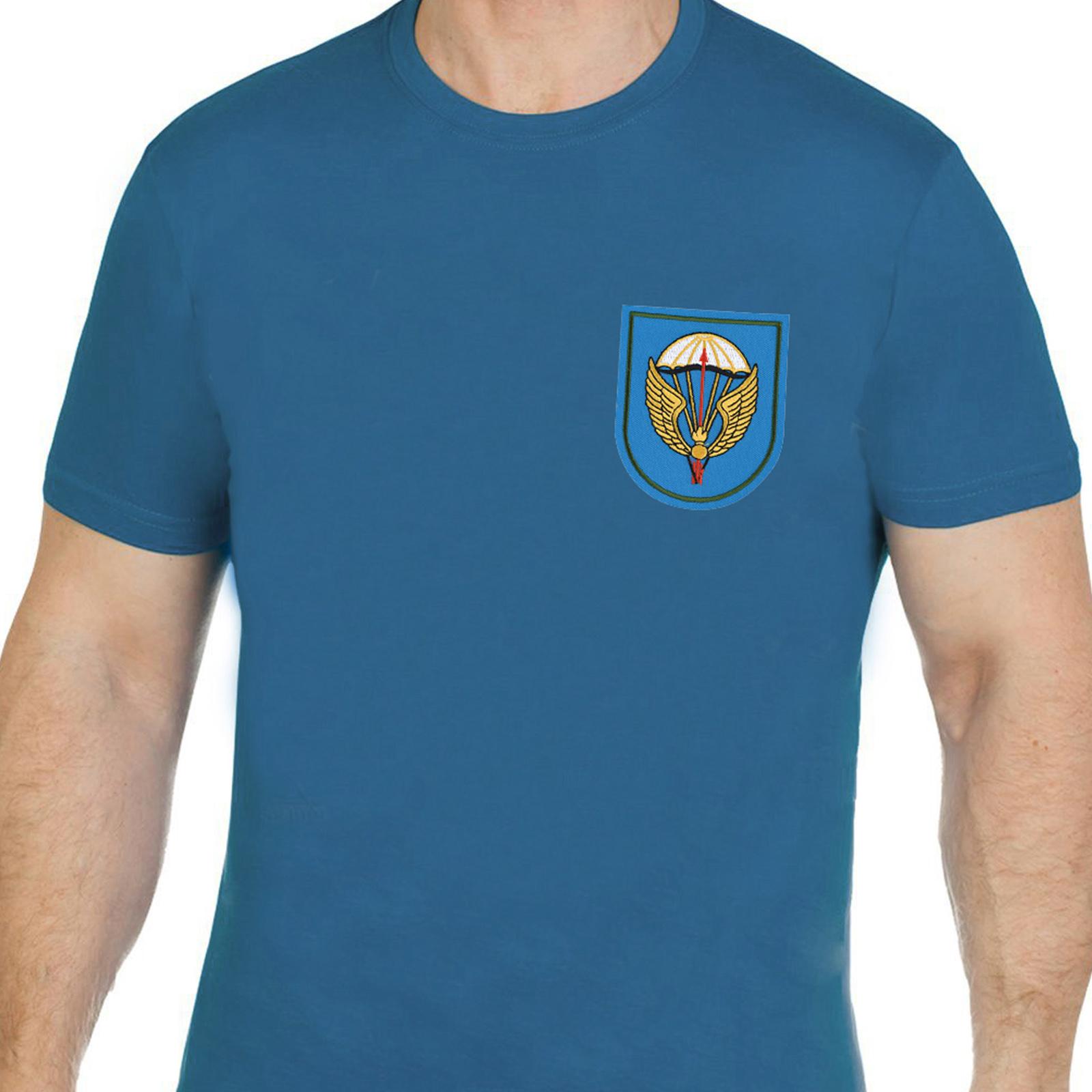 Трендовая хлопковая футболка с вышивкой ВДВ 31 ОДШБр