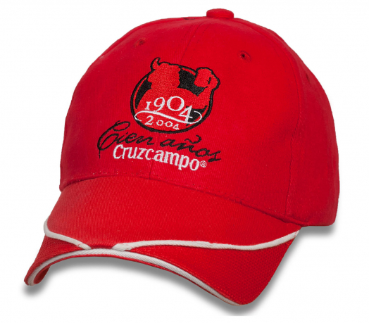Трендовая красная бейсболка Cruzcampo