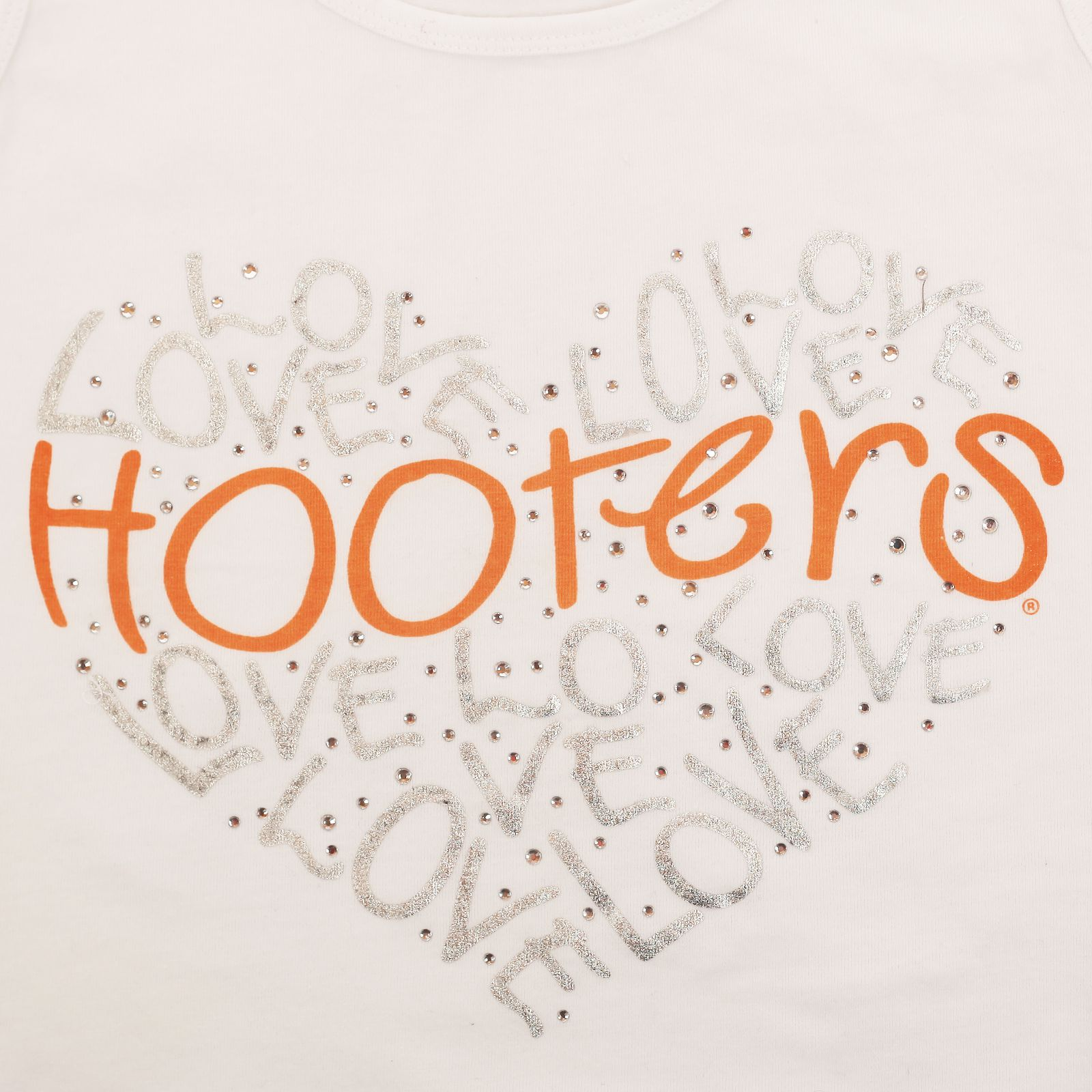 Трендовая маечка от Hooters® (США) - принт