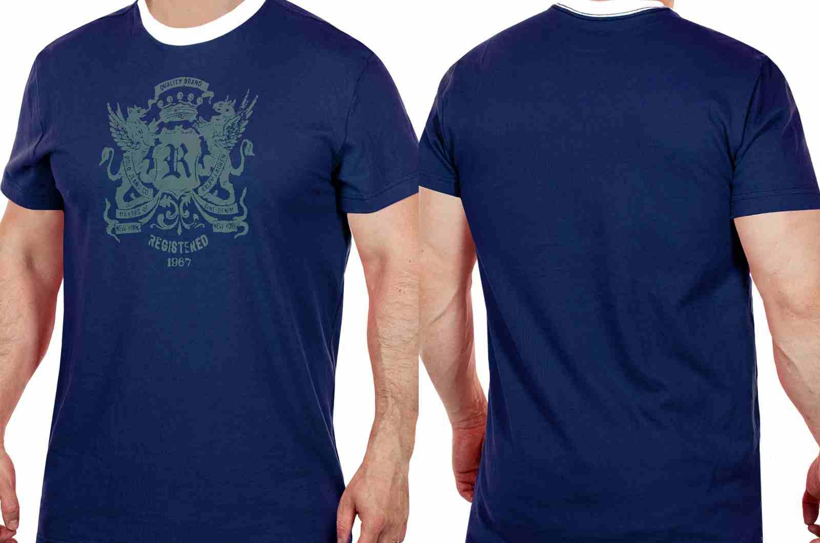 Трендовая мужская футболка от Ralph Lauren (США)-двойной ракурс