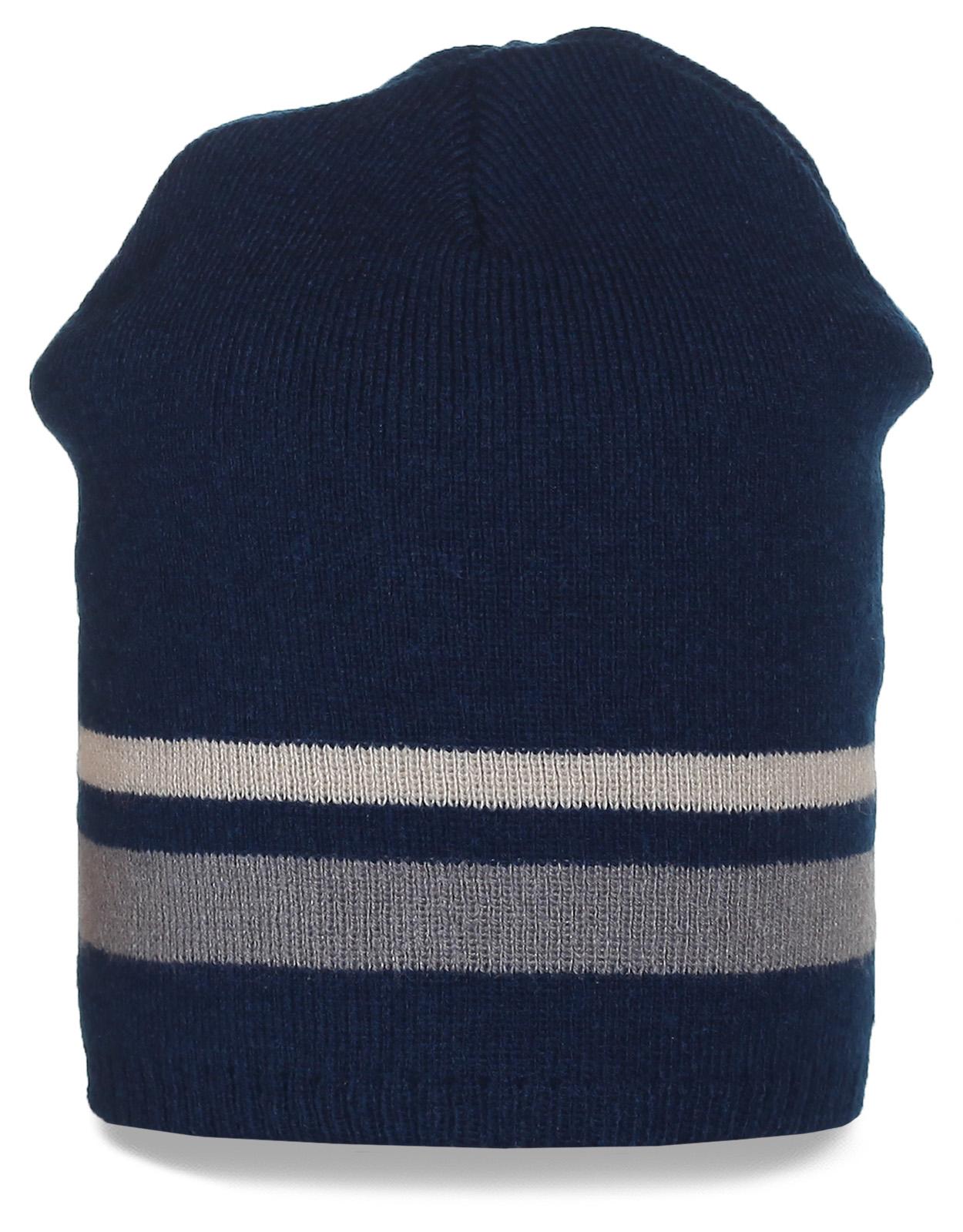 Трендовая полосатая шапка. Заказывайте модные вещи выгодно!