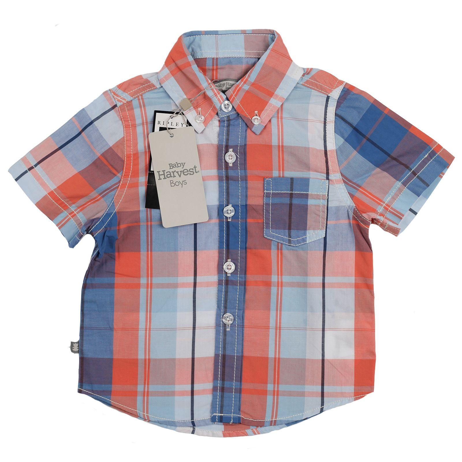 Трендовая рубашка от австралийского бренда Baby Harvest-вид спереди