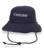 Трендовая темно-синяя шляпа-панама