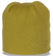 Трендовая зимняя женская шапка бини практичный первоклассный повседневный вариант с флисом