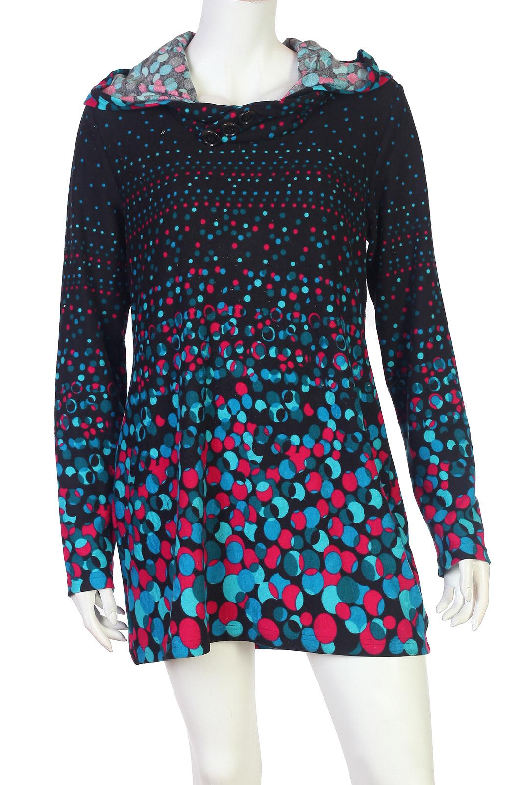 14bff97c6a9 Купить трендовое элегантное платье-тунику с длинным рукавом в подарок с  доставкой