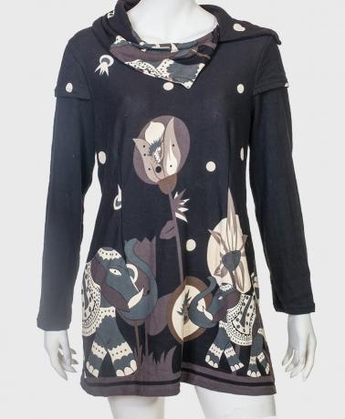 Трендовое молодежное платье-туника от бренда Le Grenier