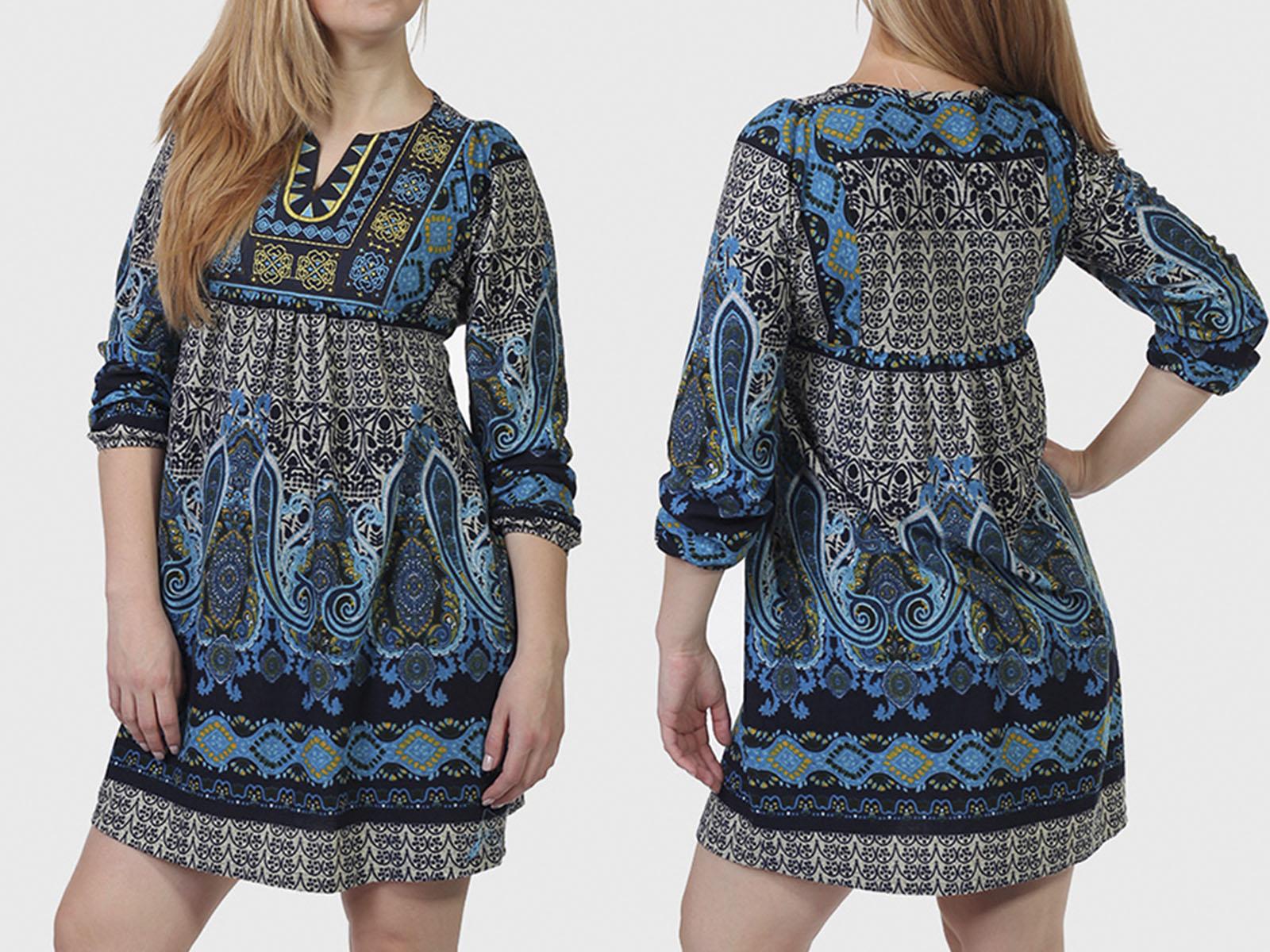 Испания! Трендовое платье с этно орнаментом от дизайнеров ADA GATTI.