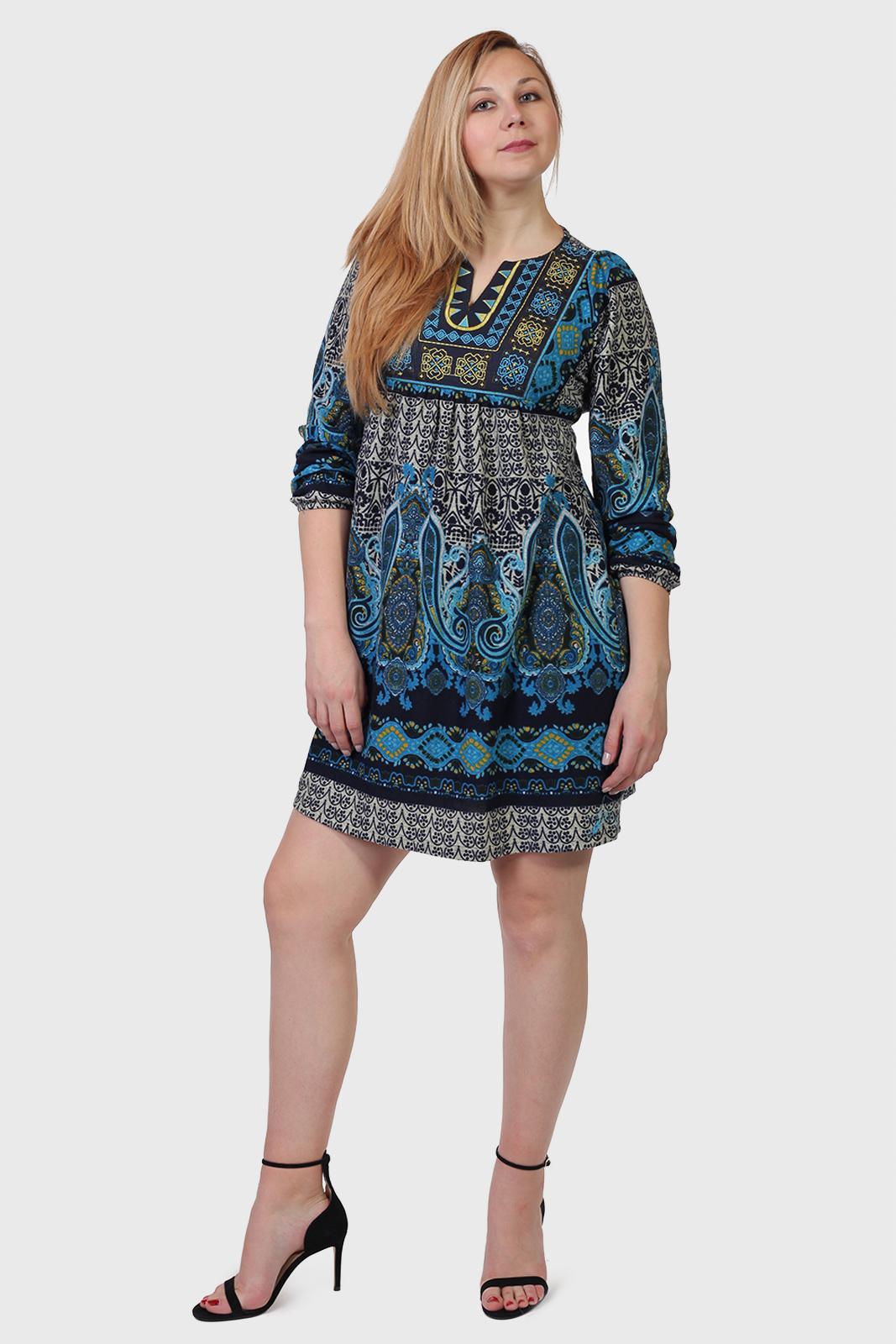 Красивое женское платье ADA GATTI с этно орнаментом