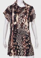 Трендовое платье с леопардовым принтом от MINKAS