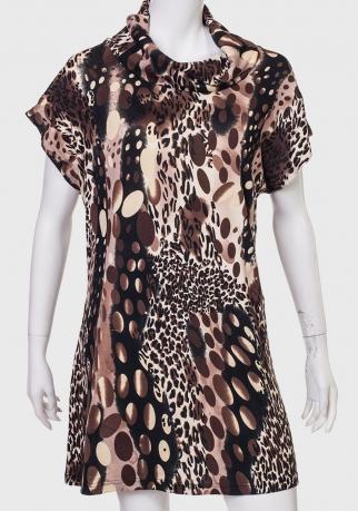 Купить трендовое платье с леопардовым принтом от MINKAS