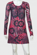 Трендовое сочное платье с приятным принтом