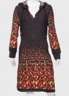 Трендовое женское платье с капюшоном от ZB