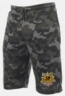 Трендовые камуфлированные шорты с нашивкой РХБЗ