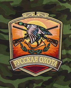 Трендовые охотничьи шорты с нашивкой Русская Охота