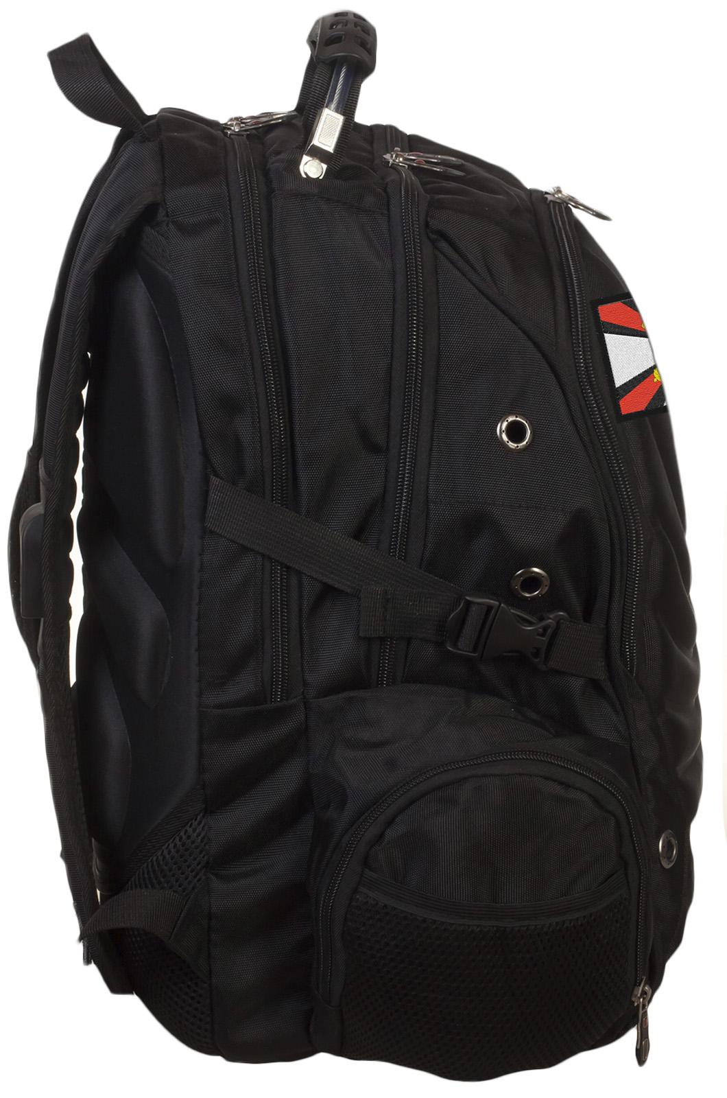 Трендовый черный рюкзак с нашивкой Артиллерия - купить в подарок