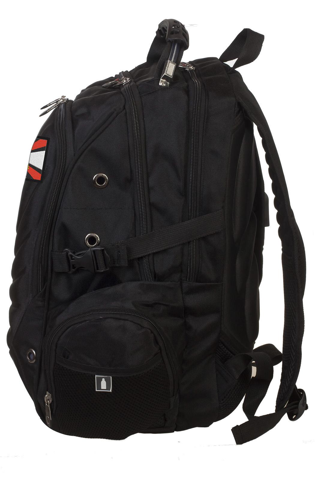 Трендовый черный рюкзак с нашивкой Артиллерия - купить выгодно