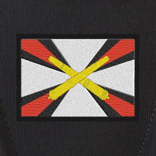 Трендовый черный рюкзак с нашивкой Артиллерия
