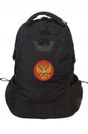 Трендовый черный рюкзак с нашивкой Герб России