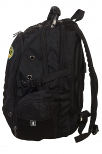 Трендовый черный рюкзак с нашивкой Спецназ ГРУ - заказать онлайн
