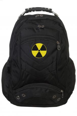 Трендовый городской рюкзак со знаком радиации купить в подарок